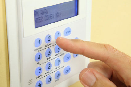 picture of an intruder alarm